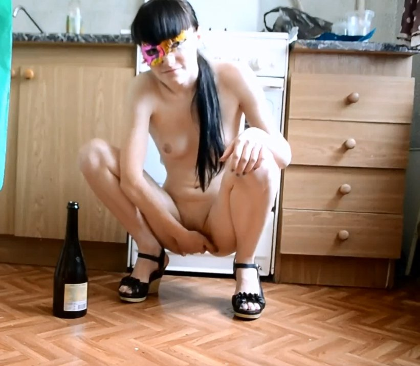 Slim Teen with Bottle of wine in the anal (FULL HD 1080p) 390 Mb