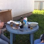 MilanaSmelly – 2 mistresses, barbecue and toilet slave (Poo19.com) from 13-10-2019