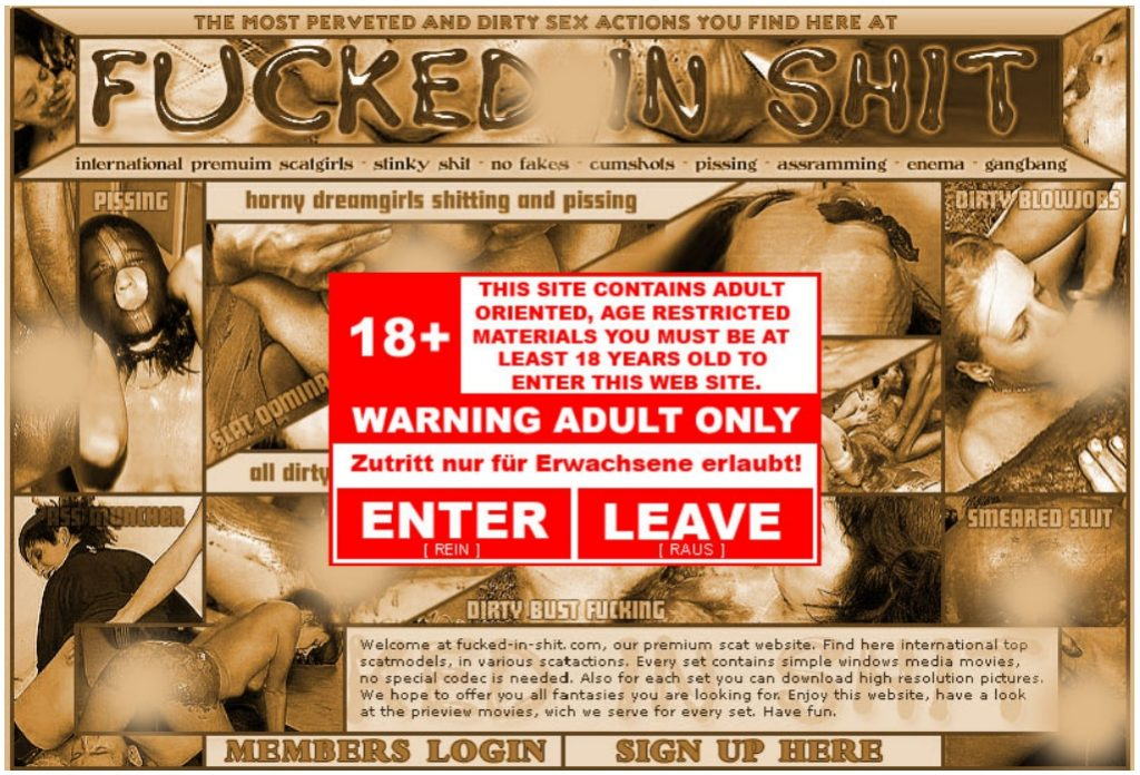 Scat SiteRip - 40 Shit Porn Videos from Fucked-In-Shit.Com 2005-2008