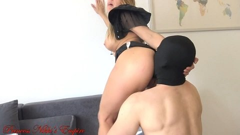 01.04.2020 PrincessNikki – Two scat slaves eat all my shit