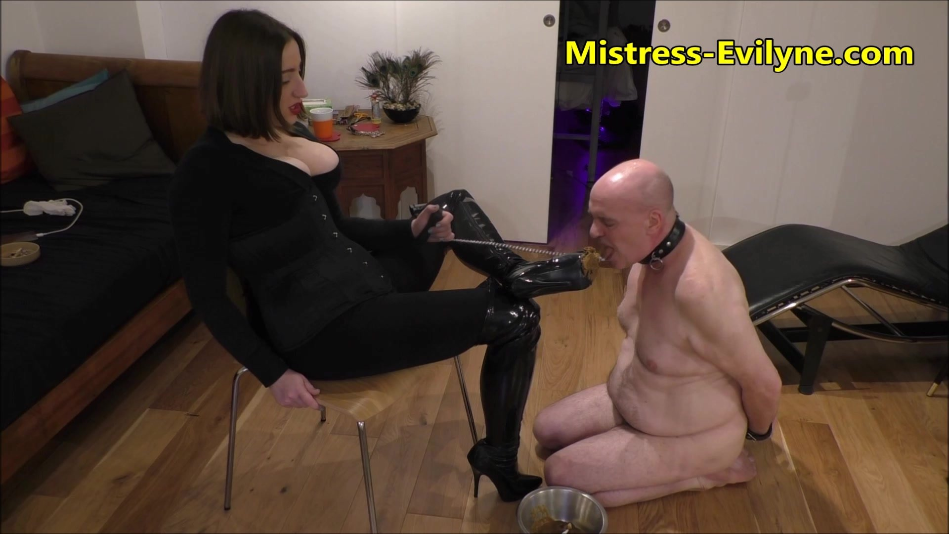 MISTRESS EVILYNE – DIRTY SCAT EATING PIG – HD-1080P