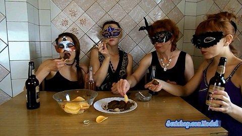 ModelNatalya94 – The morning Breakfast the four girls