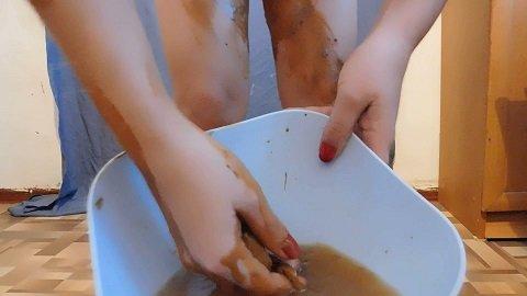Masturbation in shit (ScatShop.com) $34.99 (Premium user request) by Miss_Di