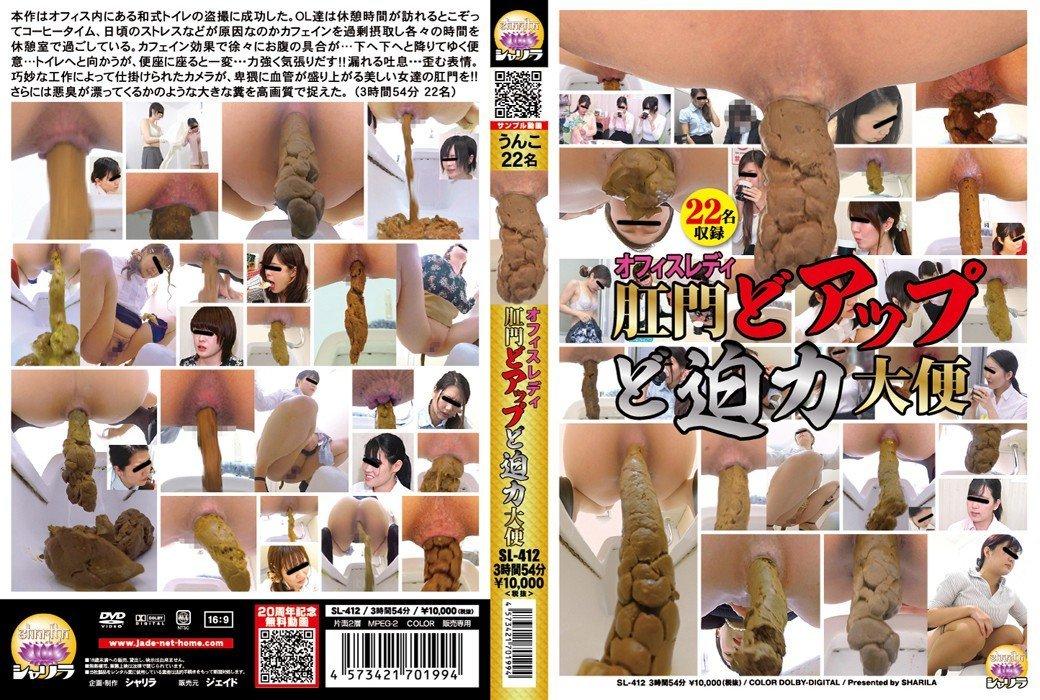 SL-412 – Toilet voyeur – Anal Poop enlargements and Japanese office ladies Poop FullHD-1080p