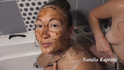 Double enema after scat party in shower $19.99 (Premium user request) by Natalia Kapretti