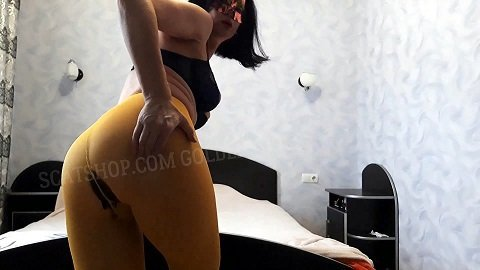 Tatiana shit in yellow tights (ScatShop.com from 2020) $37.99 (Premium user request) by Svetlana