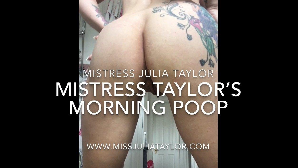 Mistress Julia Taylor's Morning Poop (28.02.2021) 19.99$ (Premium Request) via Mistress Julia Taylor