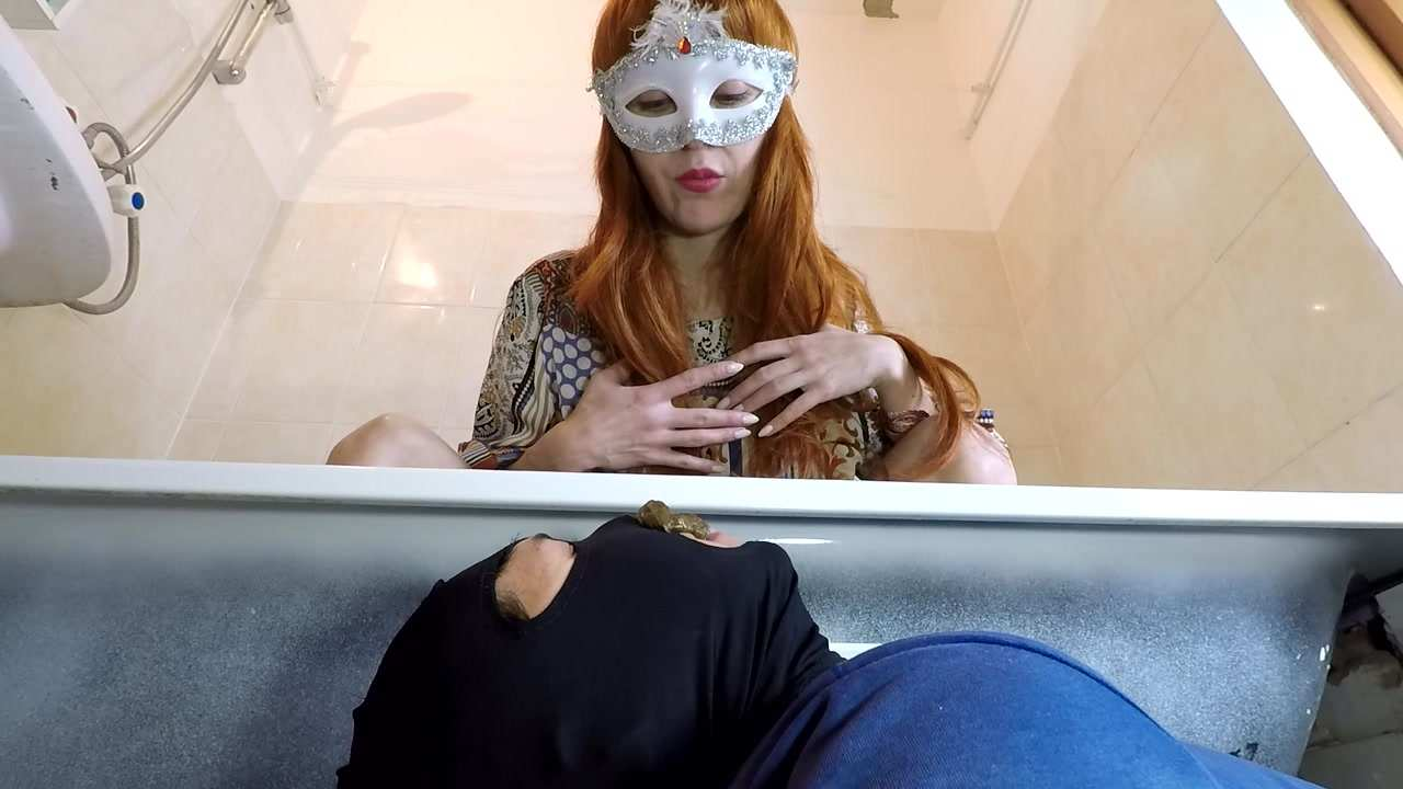 Spit, Pee and Poo on Toilet Slave!