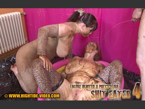 LOUISE HUNTER & PRETTYLISA – SHIT EATER 4  starring in video Louise Hunter, Prettylisa, 1 Male