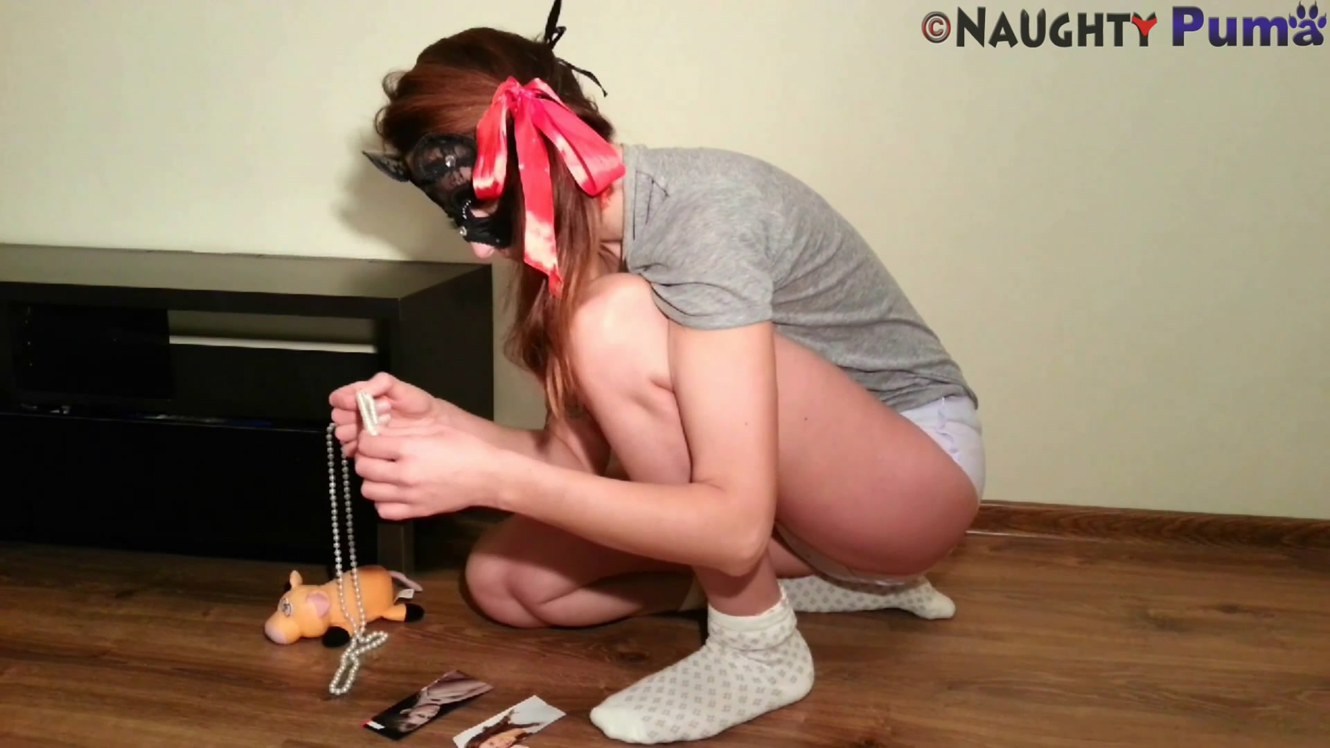 Trying To Be A Big Girl starring in video NaughtyPuma