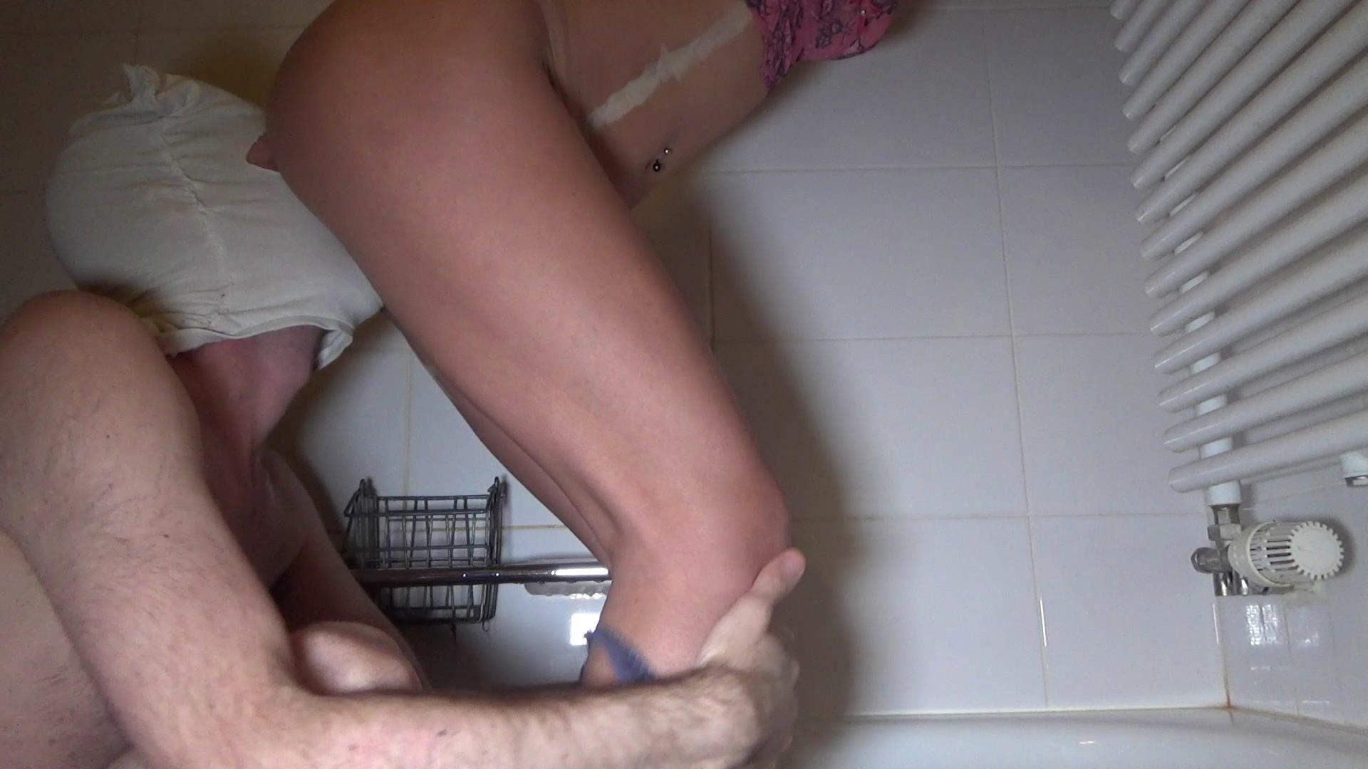 Morning poop in the bathroom starring in video Lila  ($11.99 ScatShop) – Scat