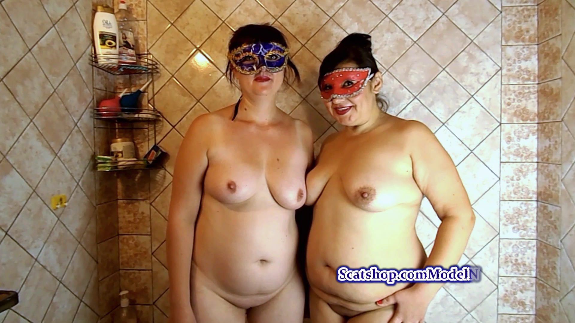 Olga and Lolita in the shower starring in video ModelNatalya94 ($12.99 ScatShop) –  Smearing