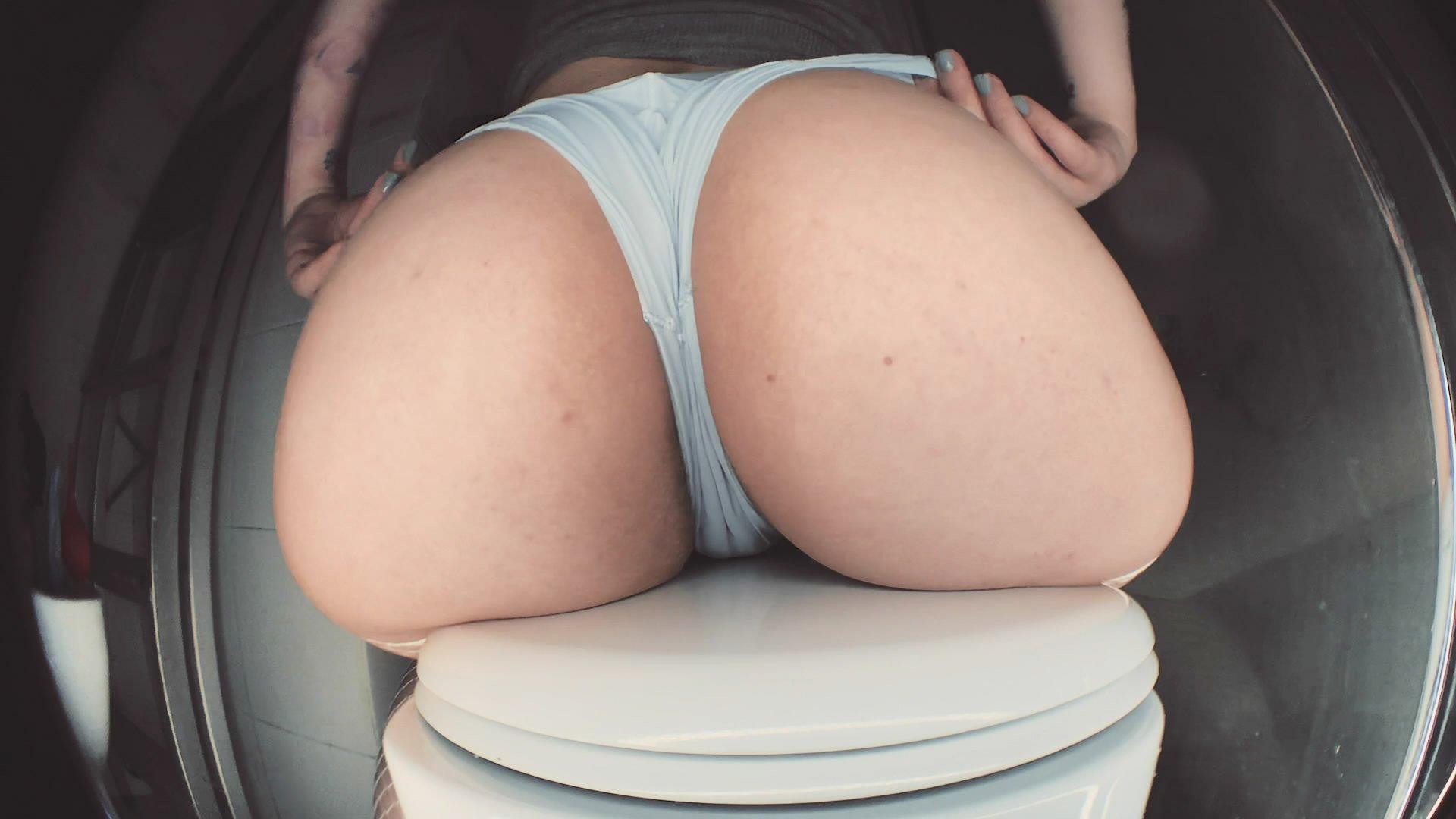 Stinking curse vs. White panties  starring in video DirtyBetty ($16.99 ScatShop) – Enema