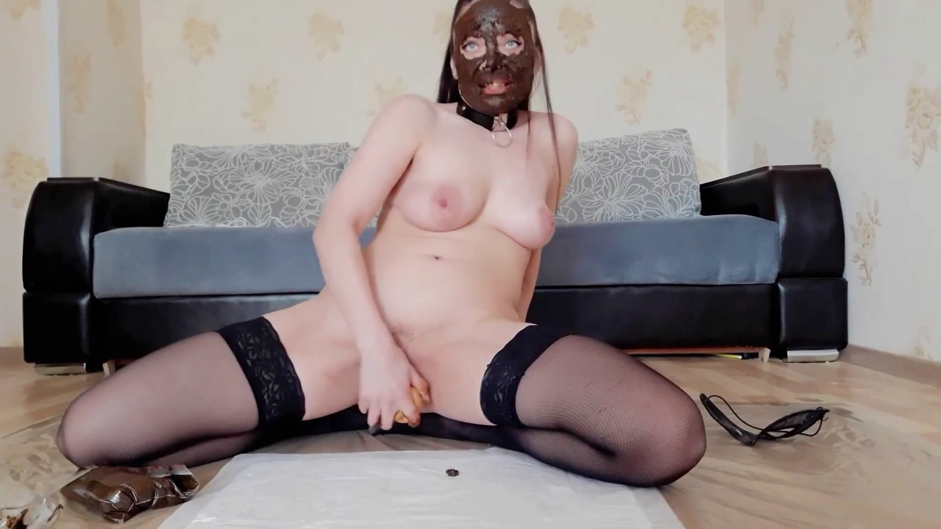 I shit from three holes with 8 loads part 1 starring in video ScatLina ($24.99 ScatShop) – Smearing
