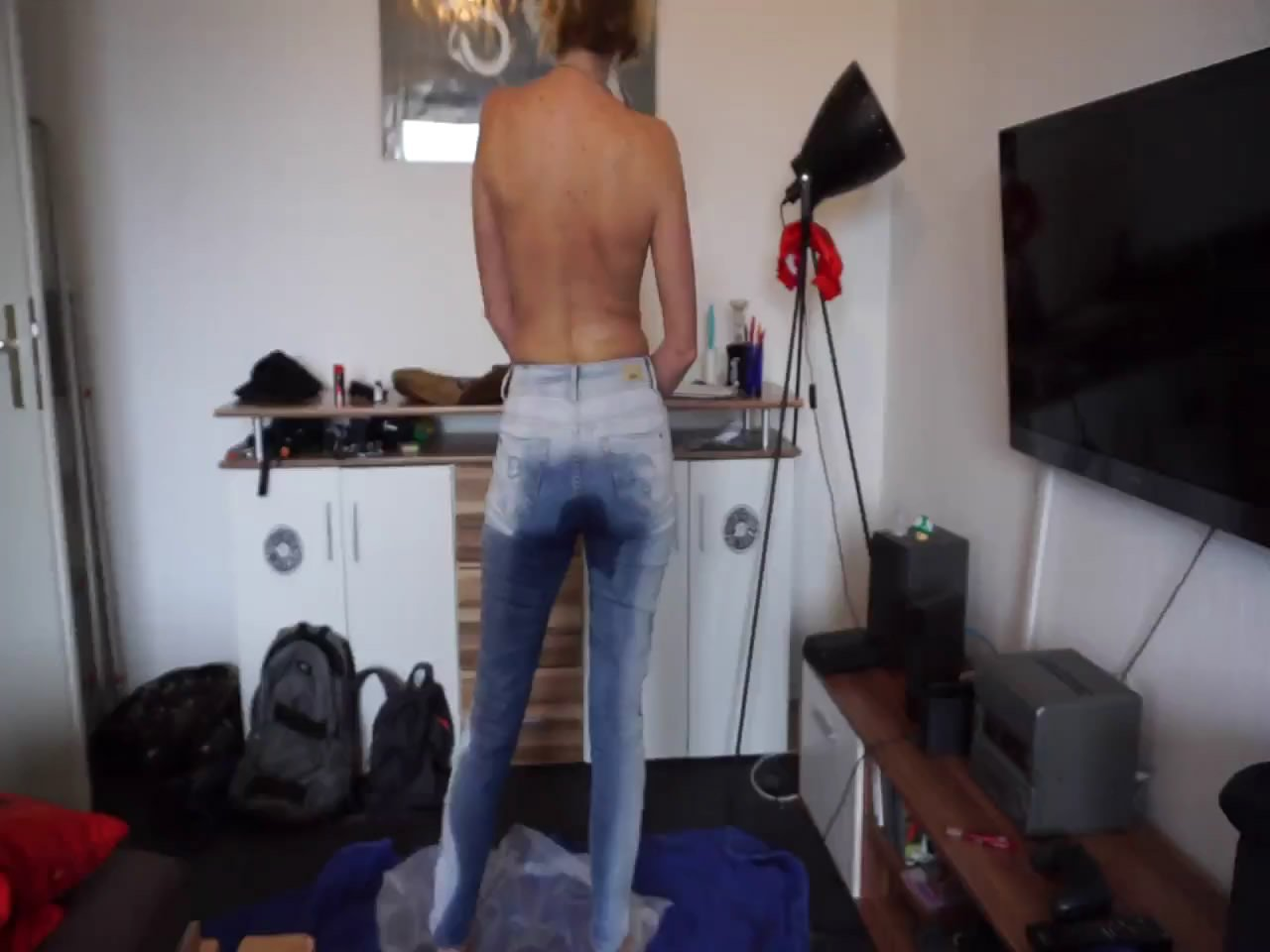 Shit in the pants starring in video scatsusan –  smearing