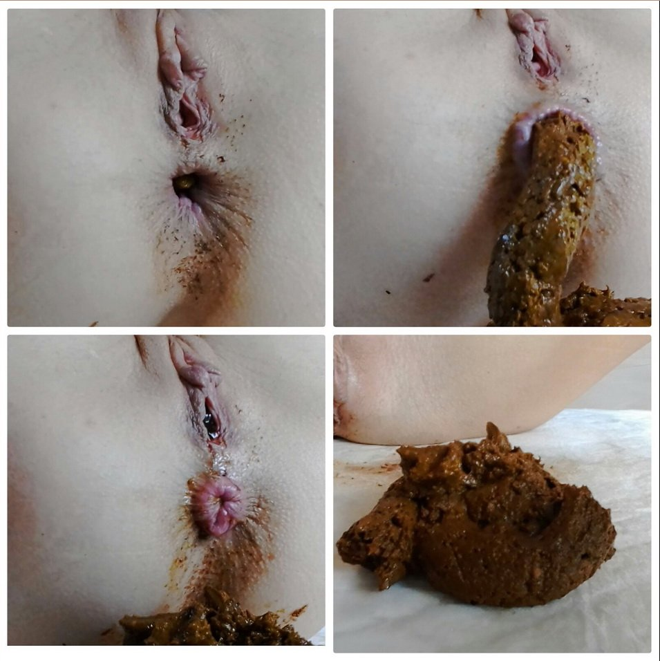 Extreme Up Close Period Shitting starring in video MissAnja ($7.99 ScatShop)