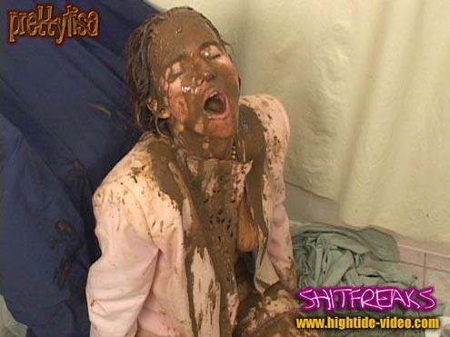 PRETTYLISA – SHITFREAKS  starring in video Prettylisa , various males ($50 Hightide-Video)