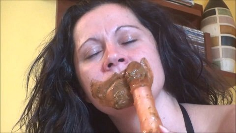 Shit show and deep throat (ScatShop.com) Dirty Scat Girl