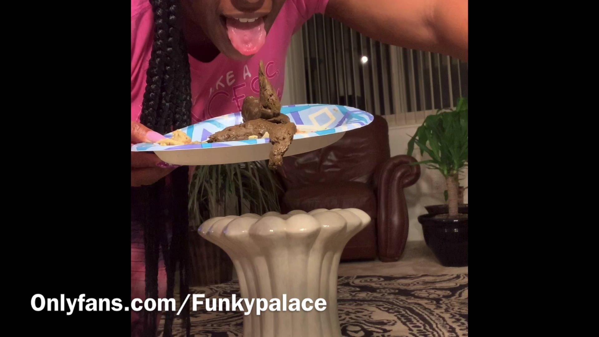 Ebony Scat Queen On Her Pedestal! starring in video ScatFreekzClub  ($19.99 ScatShop) (Release date: Jun 07, 2021) – Efro
