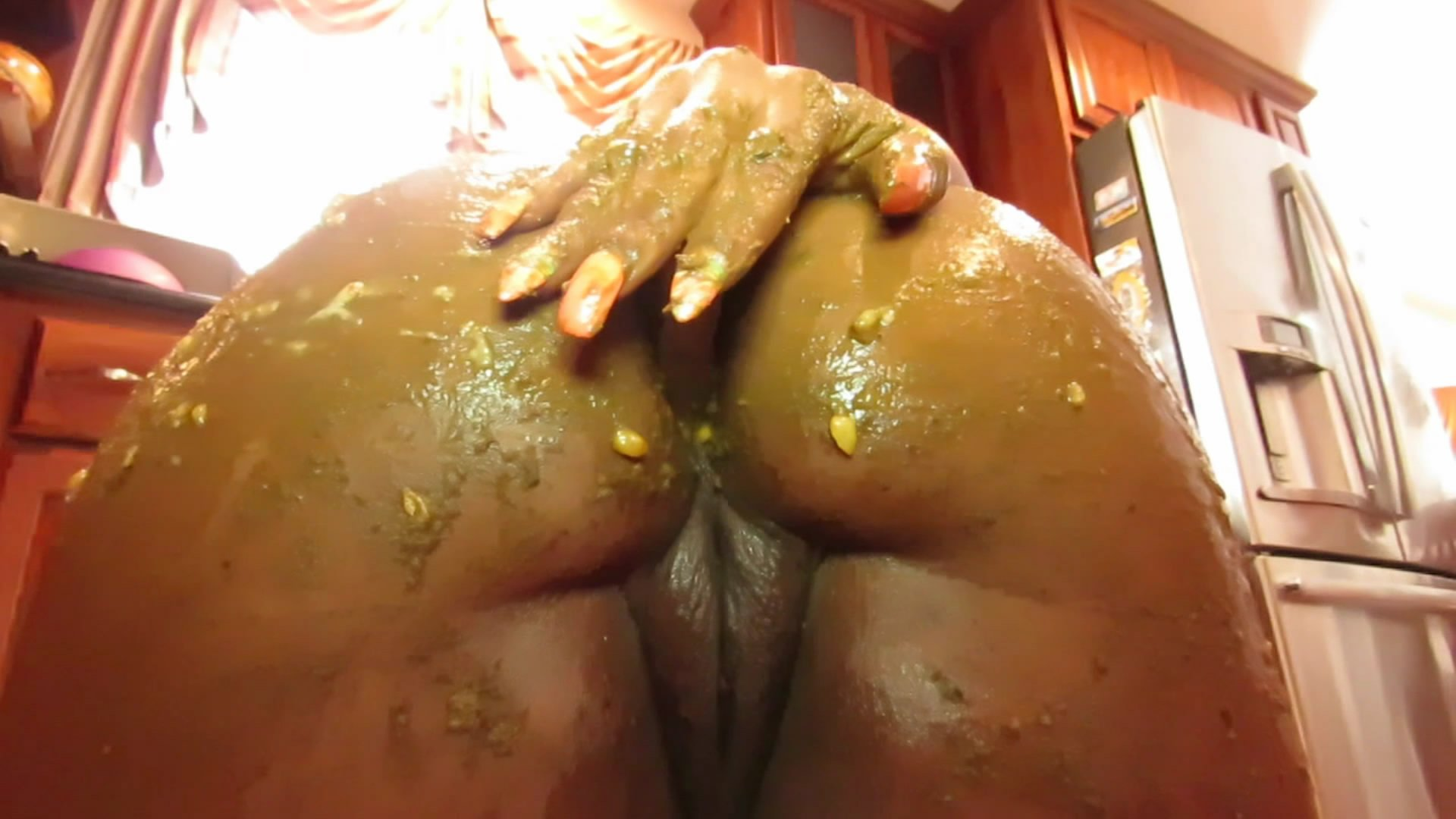 Playing With Food Scat Pt 1 starring in video ScatFreekzClub ($14.99 ScatShop) (Release date: Jun 10, 2021) –  Smearing