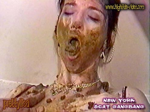 PRETTYLISA – NEW YORK SCAT GANGBANG starring in video Prettylisa, various males ($50 Hightide-Video)