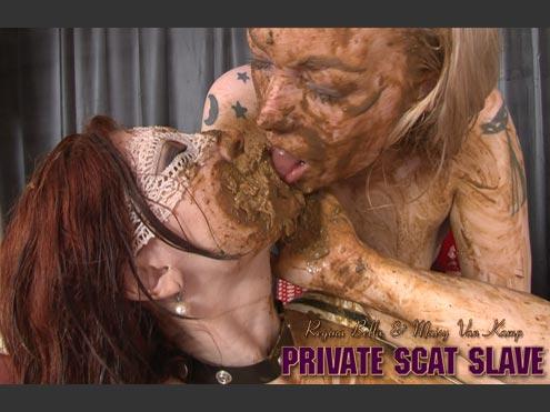 REGINA BELLA – PRIVATE SCAT SLAVE starring in video Regina Bella, Maisy van Kamp, 1 Male ($50 Hightide-Video)