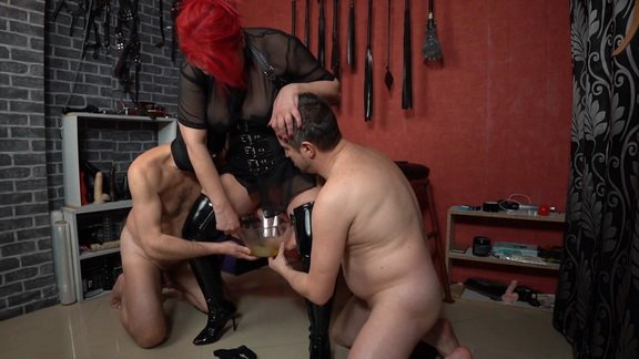 Mistress Andreea and girlfriend pissing and enema ($19.99 ScatShop)