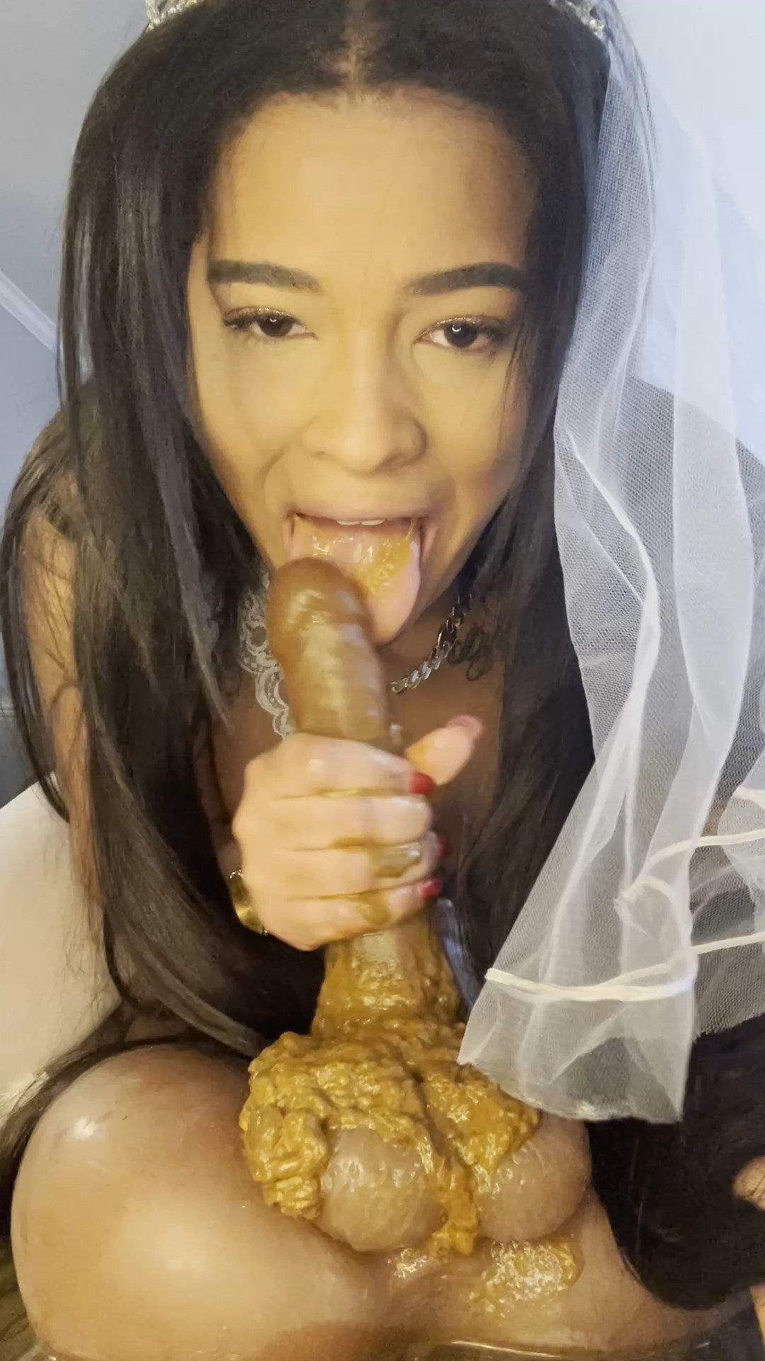 Nasty bride starring in video Cynthiagarcia1212 ($49.99 ScatShop) –  UltraHD/2K