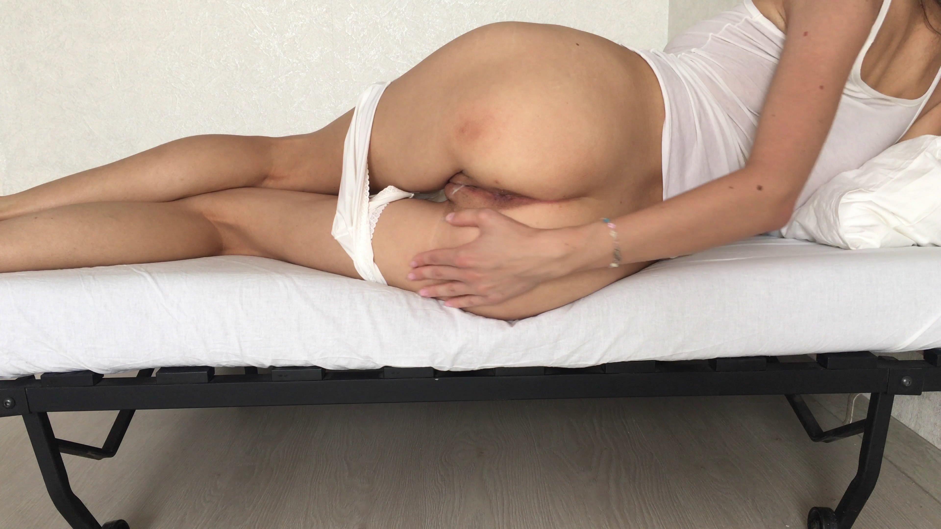 Doing dirty work lying on my bed starring in video Markovna ($7.99 ScatShop) – Poop Videos