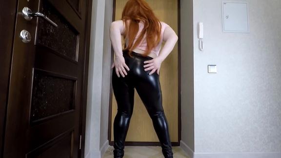Amarotic Priscilla in Black Shiny Leggings ($11.99 ScatShop)
