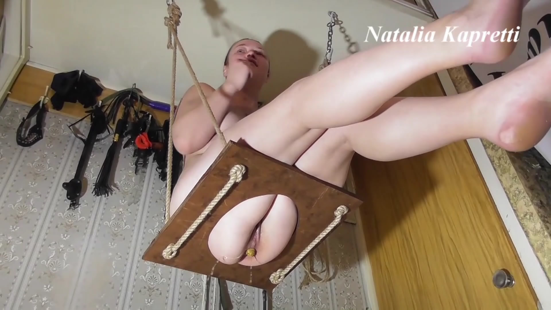 Shitting On Swing Feels Like A Queen starring in video Natalia Kapretti ($14.99 ScatShop) – Toilet Slavery