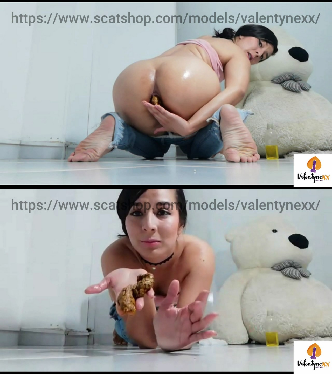 Pooping in Jeans starring in video Valentynexx ($7.99 ScatShop) – Scat