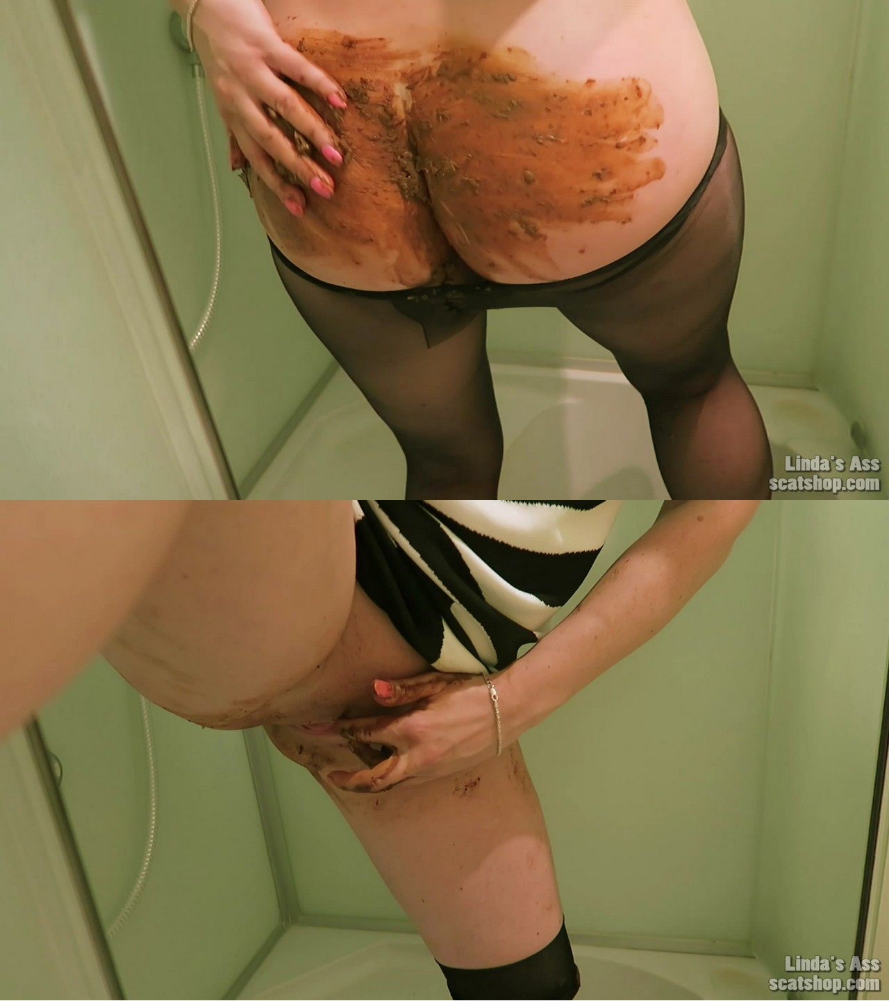 Shower poop smear and lick starring in video sexyass ($14.99 ScatShop) – Farting