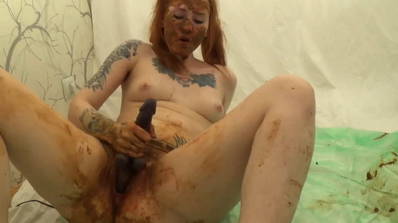 BADASS Shit and Blood masturbation (+ Pantypoping and smearing) ($23.99 ScatShop)